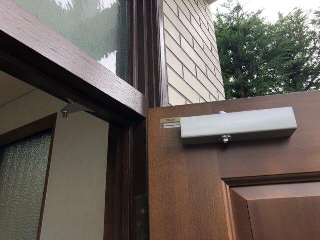 外壁スレート板補修。