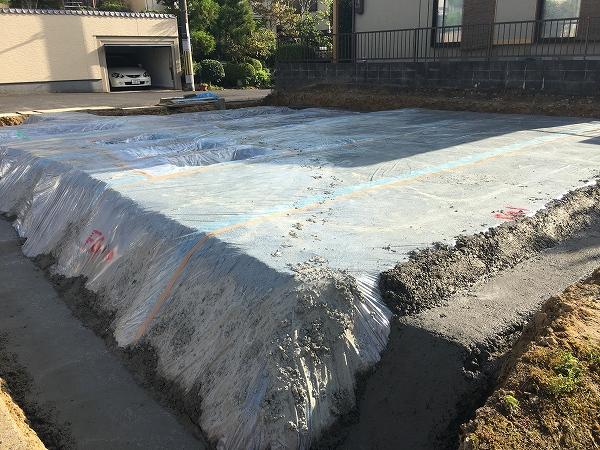 防湿シート、捨てコンクリート
